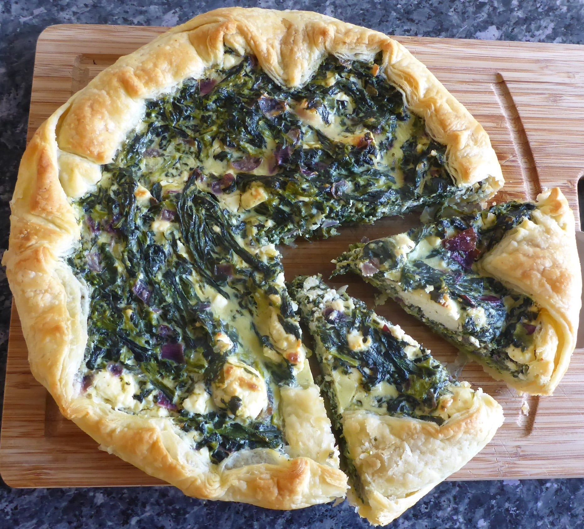 Spinach And Feta Quiche With Puff Pastry Ester Kocht